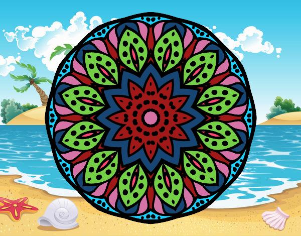 Dibujo de Mandala naturaleza pintado por Chiche8 en Dibujosnet el