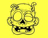 Cara de zombie con gusanos
