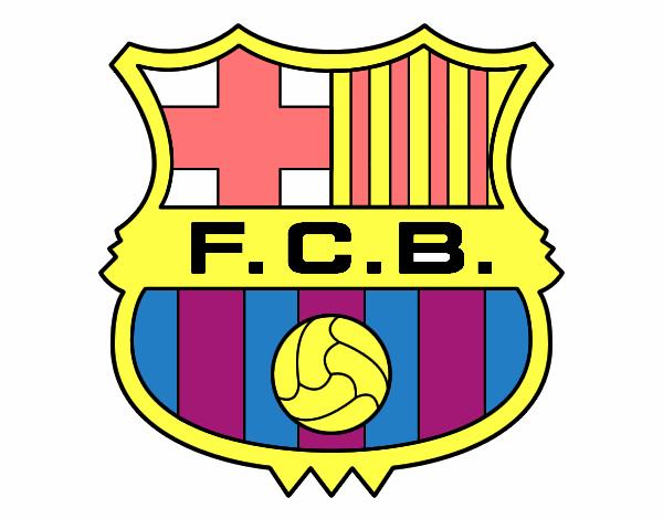 Dibujo De Escudo Del Fc Barcelona Pintado Por Tabathamc En Dibujos