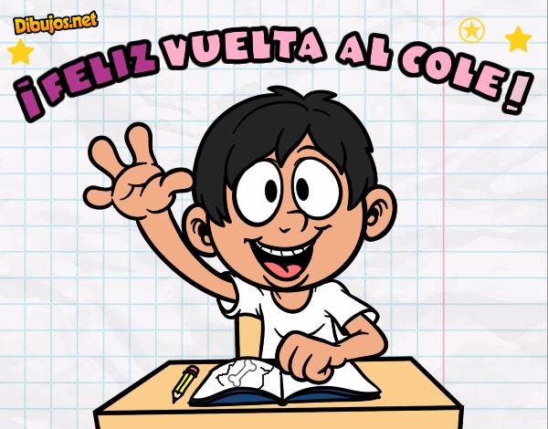 Colorear Vuelta Al Cole 15: Dibujo De Feliz Vuelta Al Cole Pintado Por Windy En