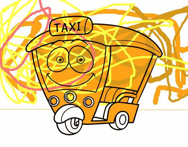 Dibujo de Moto  Taxi pintado por en Dibujosnet el da 250815 a