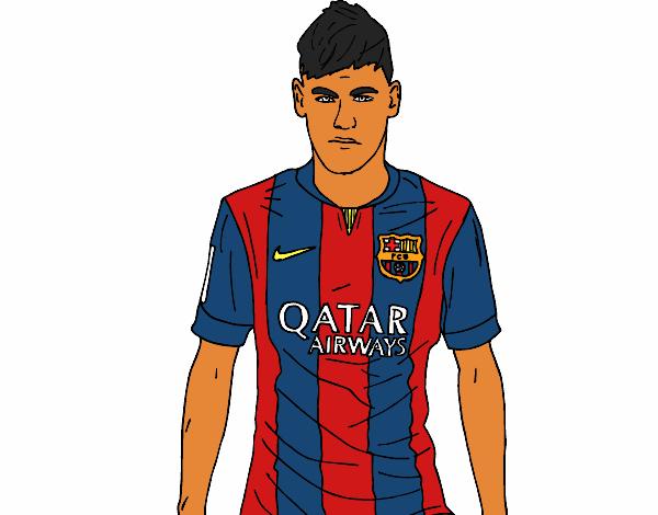 Neymar Jr. Pintado por Usuario no registrado el 29 de Agosto del 2015