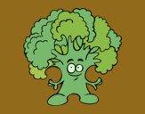Dibujo Señor brócoli pintado por queyla