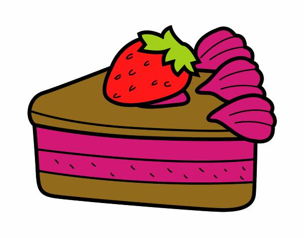 Dibujo de postre de fresa pintado por en Dibujos.net el ...