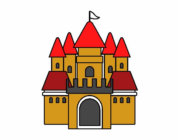 Dibujo de castillo medieval 2 pintado por osobal en - Castillos para ninos de infantil ...