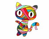 Dibujo Gato garabato momia pintado por charis