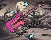Dibujo Guitarra y estrellas pintado por Potte