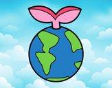 Dibujo Planeta limpio pintado por Potte
