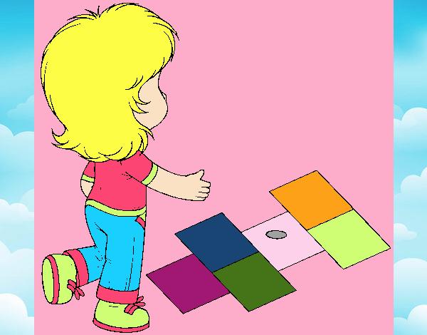 Rayuela Dibujo Para Colorear E Imprimir: Dibujo De Rayuela Pintado Por En Dibujos.net El Día 01-09