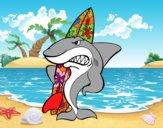 Tiburón surfero