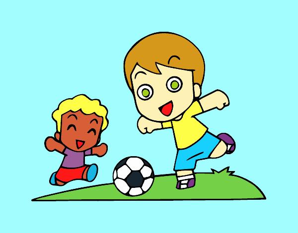 Dibujo De Futbol Pintado Por Maarta En Dibujos Net El Día: Dibujo De Fútbol En El Recreo Pintado Por Danibg En
