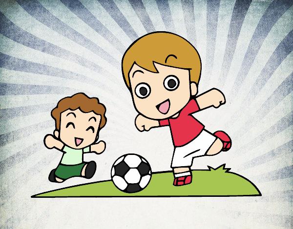 Dibujo De Fútbol En El Recreo Pintado Por Sarita22 En