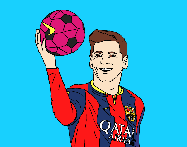 Dibujo de Lionel Messi pintado por en Dibujosnet el da 130915