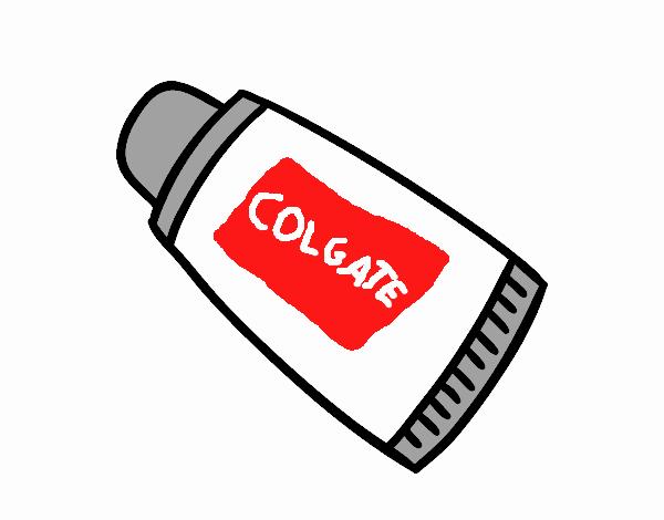 Dibujo de Pasta de dientes Colgate pintado por en Dibujosnet el