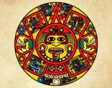 Dibujo Calendario azteca pintado por ru_82