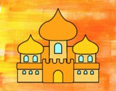 Dibujo Castillo árabe pintado por css28