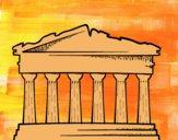Dibujo El Partenón pintado por helio