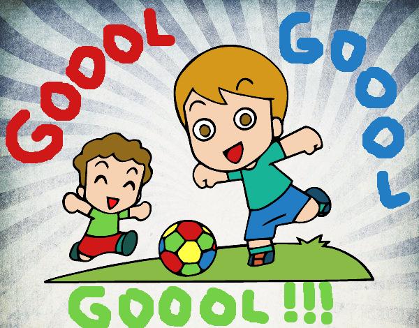 Dibujo De Fútbol En El Recreo Para Colorear: Dibujo De Fútbol En El Recreo Pintado Por Queyla En