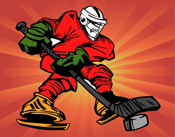 Dibujos Para Colorear Jugador De Hockey: Dibujo De Jugador Profesional Pintado Por En Dibujos.net