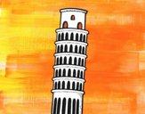 Dibujo La Torre de Pisa pintado por helio