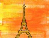 Dibujo La torre Eiffel pintado por helio