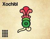 Dibujo Los días aztecas: la flor Xochitl pintado por ItzelFL