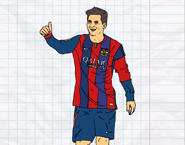 Dibujo de Messi Bara pintado por Colorista en Dibujosnet el da