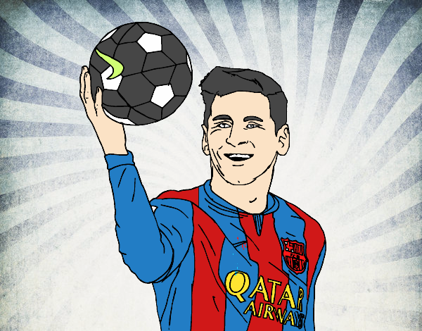 Dibujo de Lionel Messi pintado por en Dibujosnet el da 021015