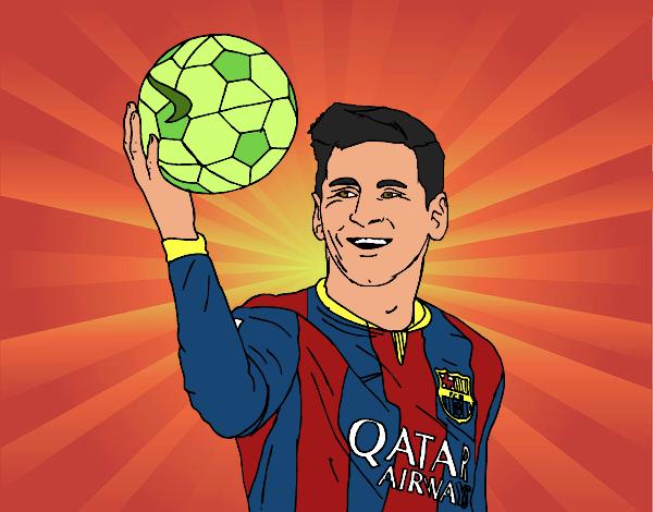 Dibujo de Lionel Messi pintado por Krusty en Dibujosnet el da 03