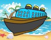 Dibujo Barco transatlántico pintado por albertxxxx