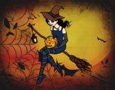 Bruja de Halloween