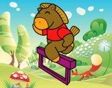 Caballo saltando valla