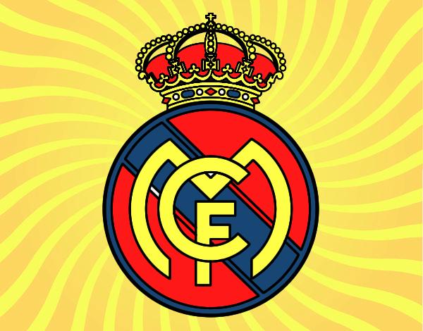 Dibujos Para Colorear Del Real Madrid Para Imprimir: Dibujo De REAL MADRID MI EQUIPO FAVORITO Pintado Por En