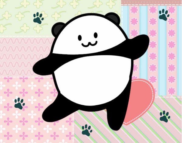 Dibujo de Osito panda kawaii pintado por en Dibujosnet el da 08