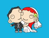 Dibujo Recién casados III pintado por ciindy0102