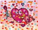 Corazón con caja de bombones