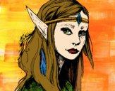 Dibujo Princesa elfo pintado por DanRowena1