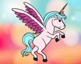 Dibujo Unicornio joven pintado por alesita08