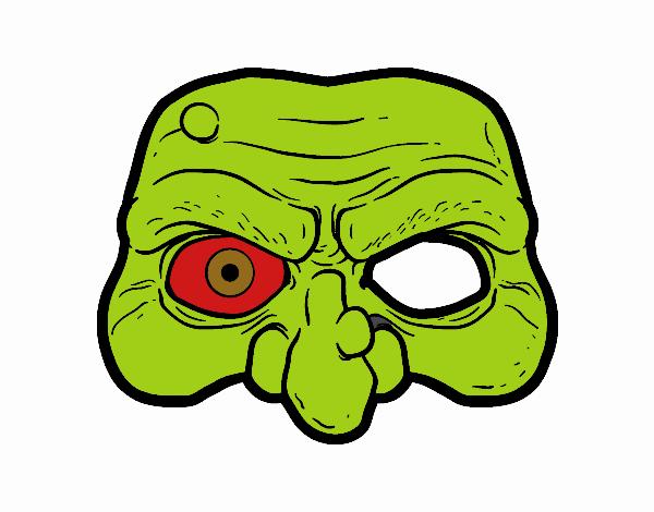 Máscara de un monstruo para Halloween. Manualidades a Raudales.