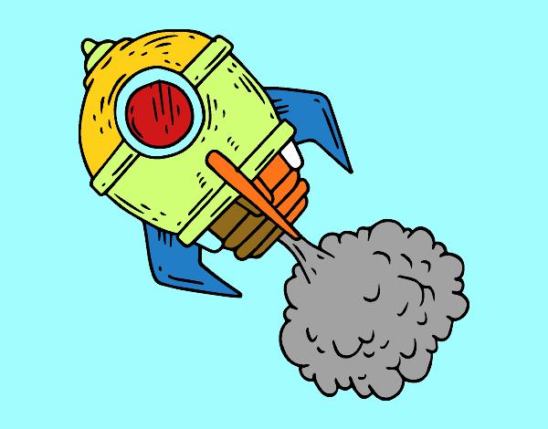 Cohete De Espacio De Dibujos: Dibujo De Un Cohete Pintado Por En Dibujos.net El Día 22