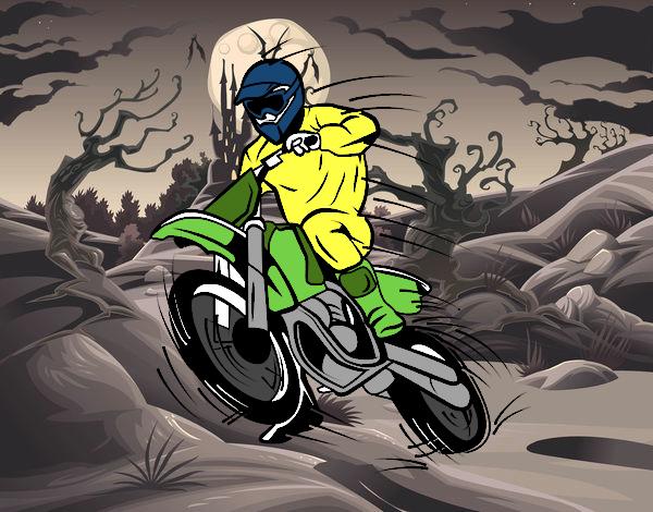 Dibujo de moto de motocross pintado por en dibujos net el d 237 a 26 10