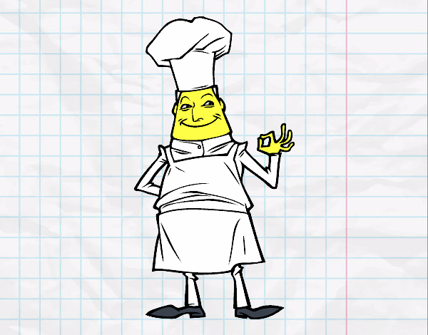 Dibujo de jefe de cocina pintado por en el d a for Jefe de cocina alicante