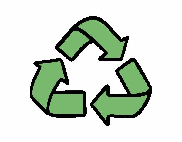 Dibujo de Smbolo del reciclaje pintado por en Dibujosnet el da