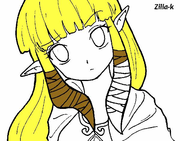 Dibujo de Princesa Zelda pintado por Olivia02 en Dibujos.net el día ...