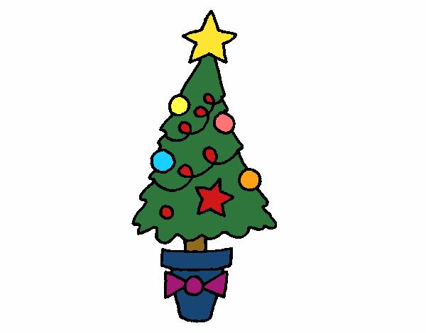 Dibujo de abeto de navidad pintado por en el for Dibujos de navidad pintados