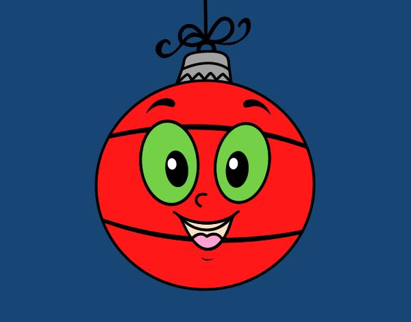 Dibujo de bola de rbol de navidad pintado por en dibujos - Bola arbol navidad ...