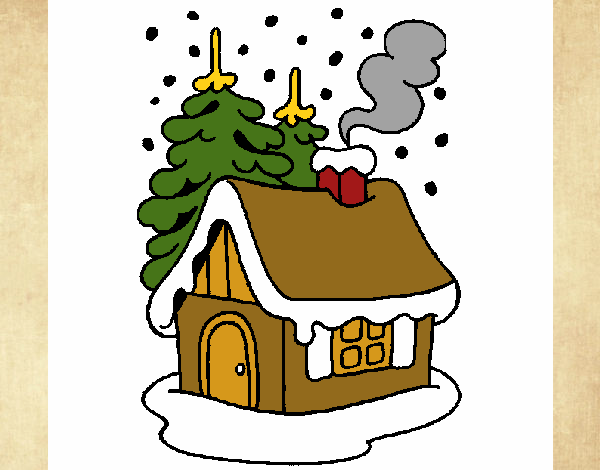 Dibujo de casa en la nieve pintado por en el - La casa de la navidad ...