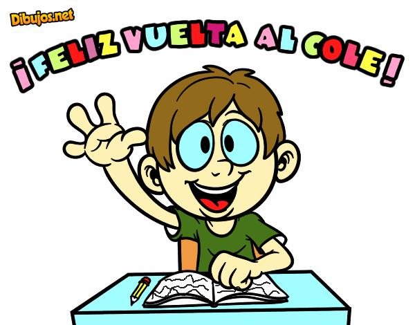 Colorear Vuelta Al Cole 15: Dibujo De Feliz Vuelta Al Cole Pintado Por En Dibujos.net