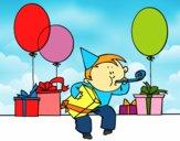 Dibujo Fiesta de cumpleaños pintado por LunaLunita