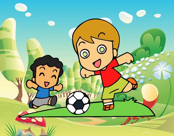 Dibujo De Futbol Pintado Por Maarta En Dibujos Net El Día: Dibujo De Fútbol En El Recreo Pintado Por Martha1987 En